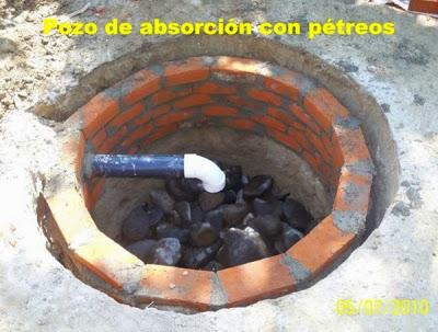 Pozo de Absorción con pétreos